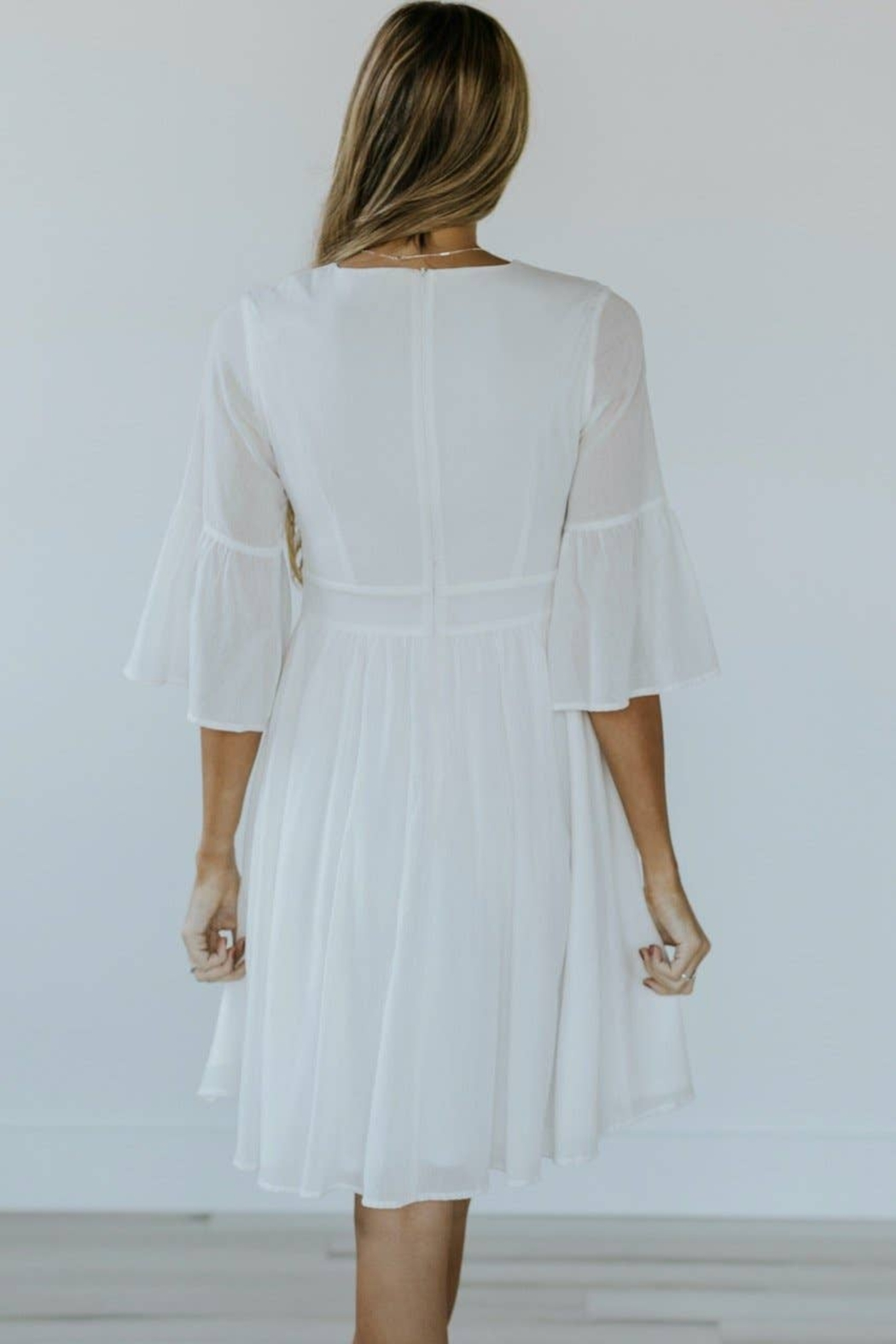 Roolee Pretty Embroidered Dress - Back Cropped Image