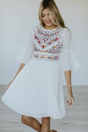 Roolee Pretty Embroidered Dress - Front cropped