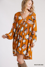 Umgee USA Pretty Floral Babydoll - Front full body