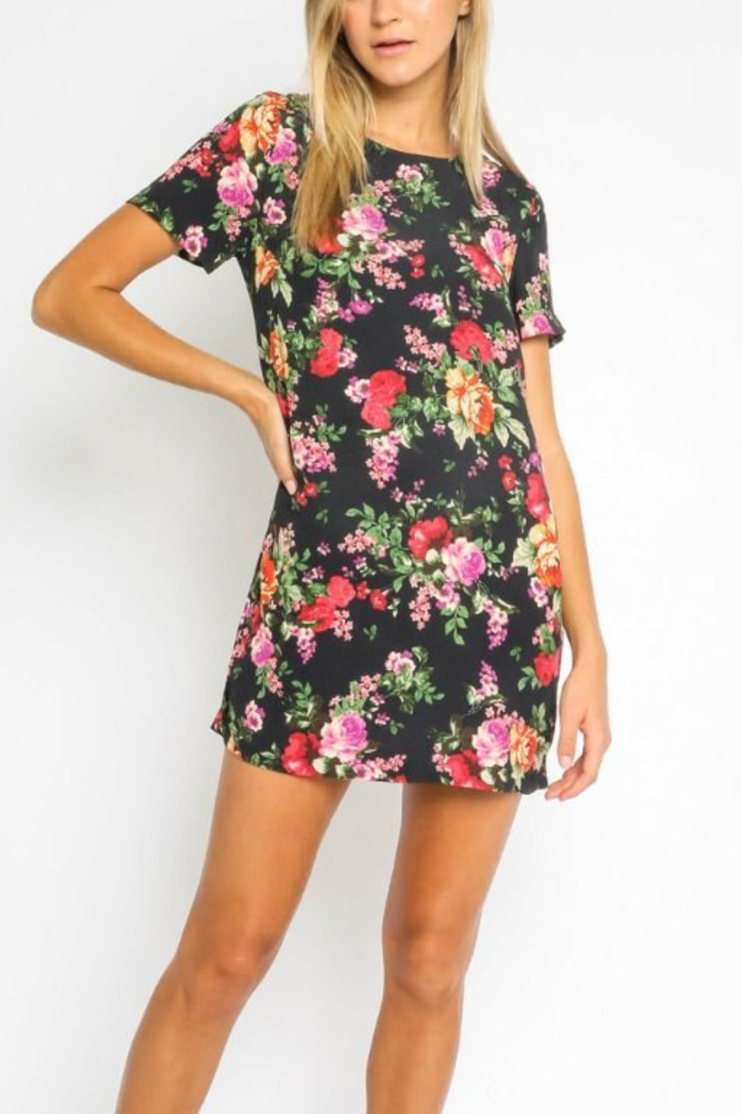 Olivaceous  Pretty Floral Dress - Main Image