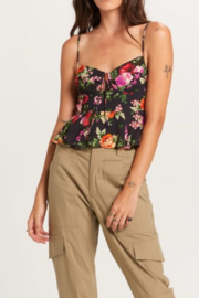 Olivaceous  Pretty Floral Tank - Front full body