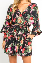 Olivaceous  Pretty Floral Wrap Dress - Front full body