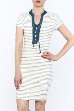 Shoptiques Product: Stripe Tie Up Dress