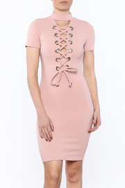 pretty girl Lace Up Dress - Product Mini Image