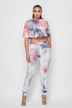 Hot & Delicious Pretty Tie Dye Jogger - Product List Image