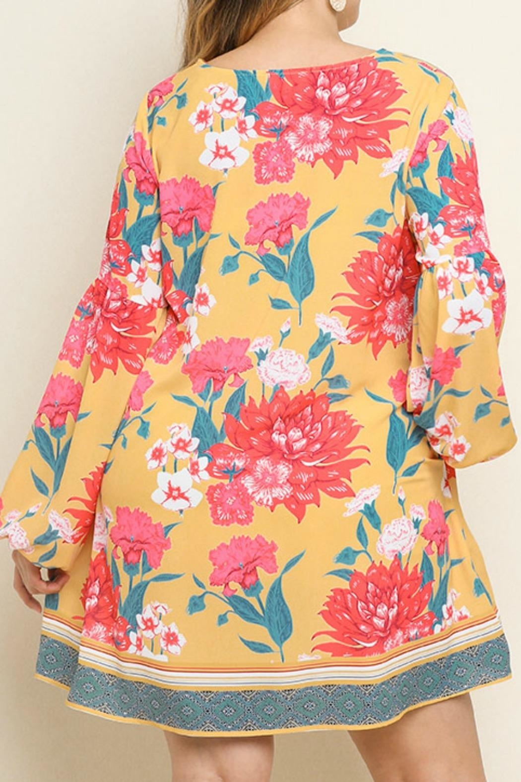 Umgee USA Pretty Floral Dress - Side Cropped Image