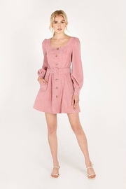 Moodie Pretty in Pink Dress - Front cropped