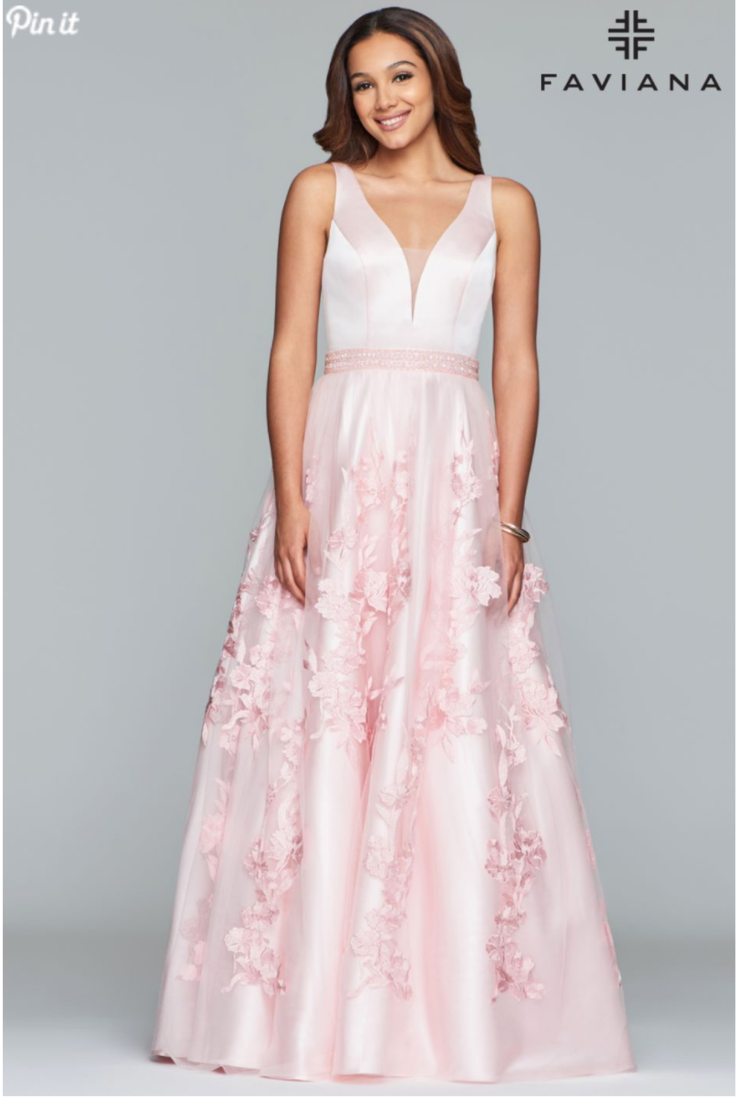 Faviana Pretty In Pink Gown - Main Image