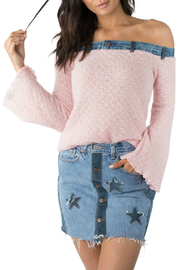 ReLove Pretty in Pink OTS Denim Trim Top - Product Mini Image