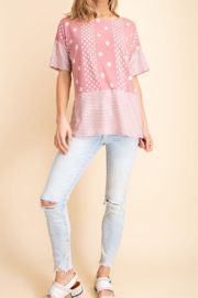 Mittoshop Pretty in Pink Polkadot Top - Product Mini Image