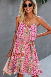 ePretty Pretty In Pink Strappy Sundress - Front cropped