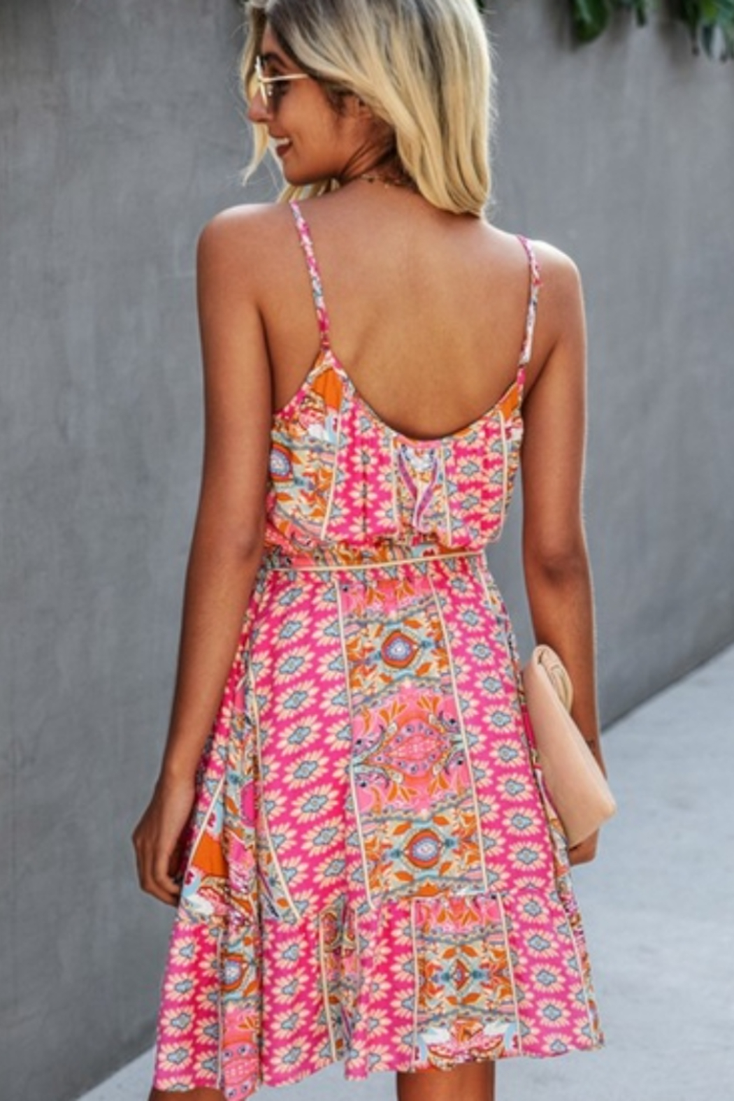 ePretty Pretty In Pink Strappy Sundress - Front Full Image