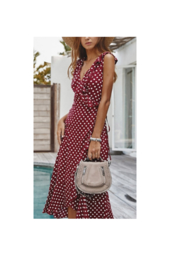 Esley  Pretty in Polka Dots Wrap  Dress - Product List Image