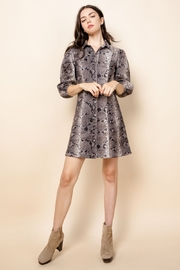 Thml Pretty in Python Snake Print Vegan Suede Dress - Product Mini Image