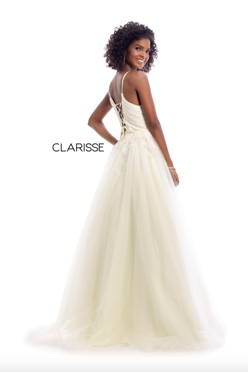 CLARISSE Pretty Pink Ballgown - Front Full Image