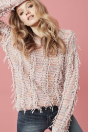 Tribal Pretty Pink Sweater - Side cropped