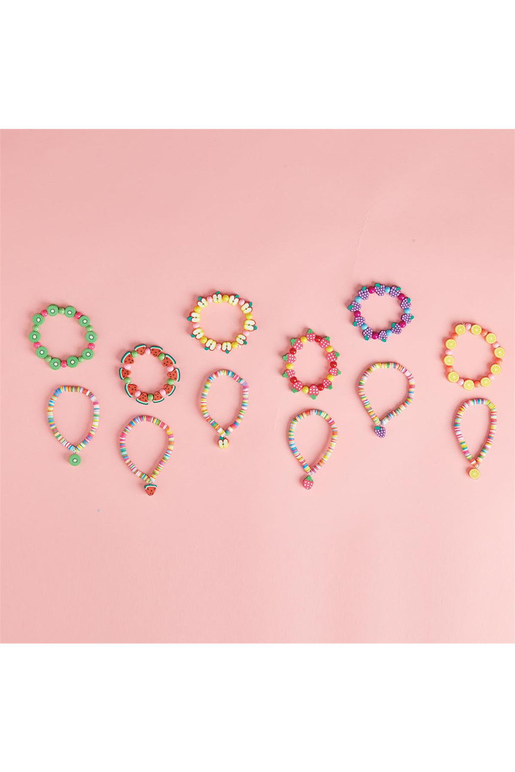 30a980381 Cupcakes and Cartwheels Pretty Sweet Fruit Bracelet - Front Cropped Image