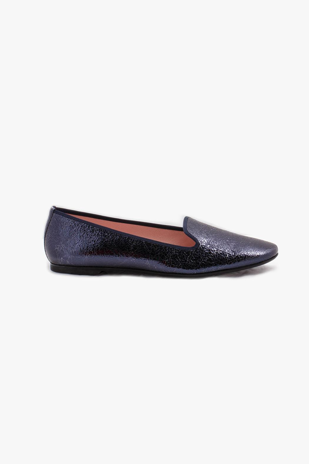 Pretty Ballerinas Navy Faye Loafers - Front Full Image