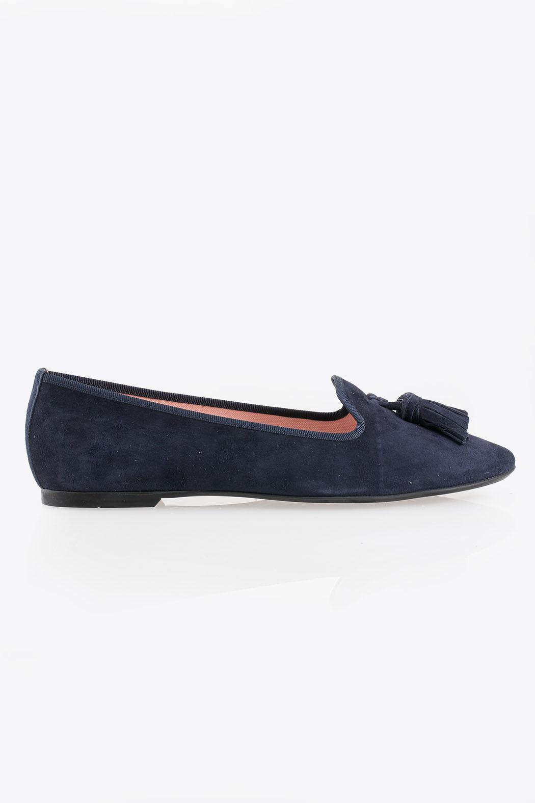 Pretty Ballerinas Suede Loafers - Front Full Image