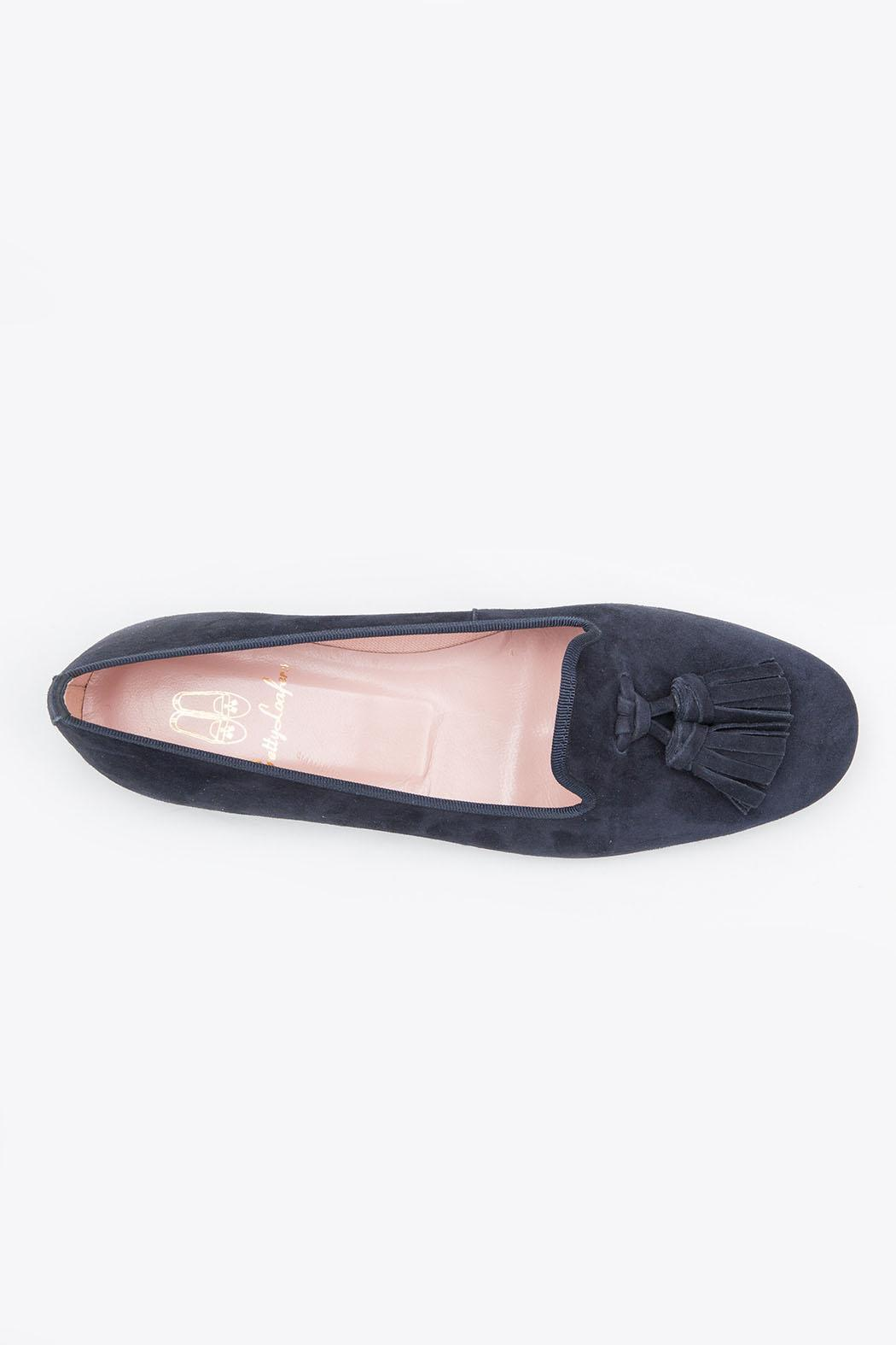 Pretty Ballerinas Suede Loafers - Back Cropped Image