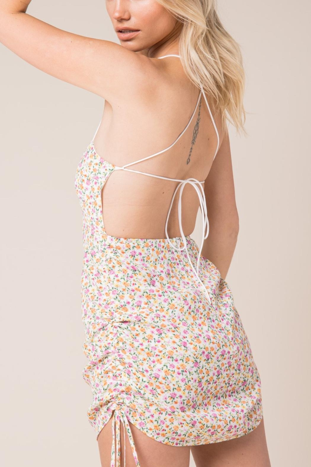 Pretty Little Things Backless Floral Dress - Main Image