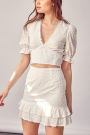 Pretty Little Things Backless Lace Top - Front full body