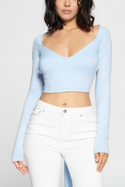 Pretty Little Things Backless Wrap Top - Front cropped