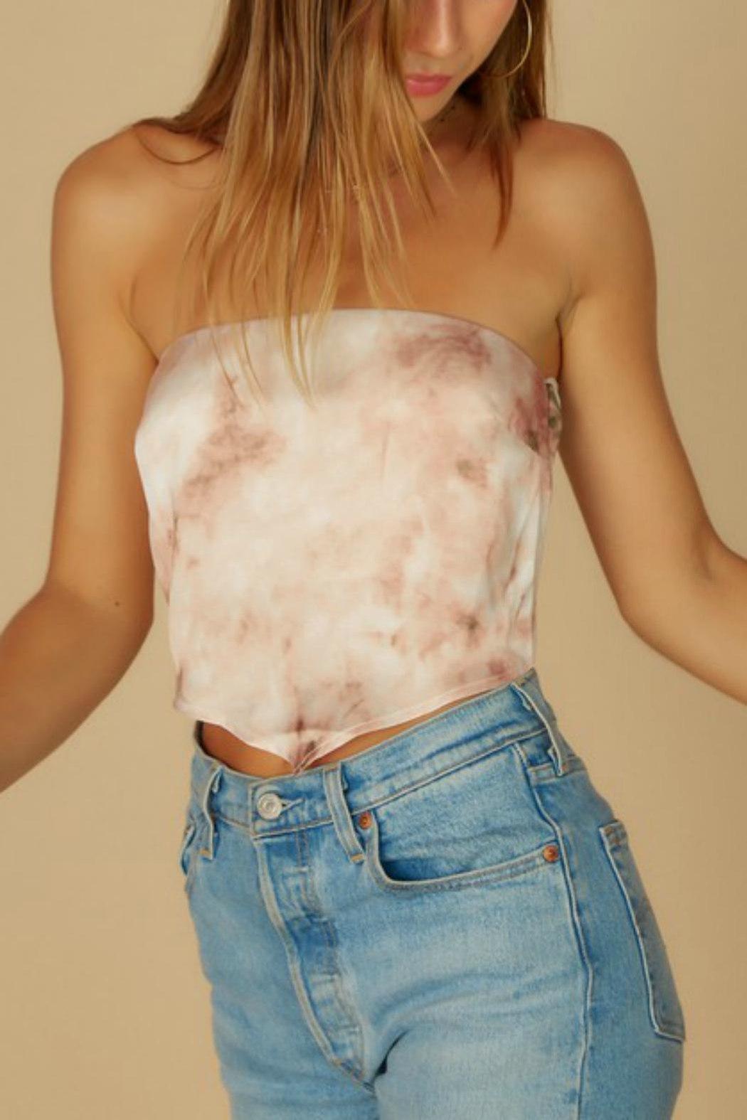Pretty Little Things Bandana Crop Top - Front Cropped Image