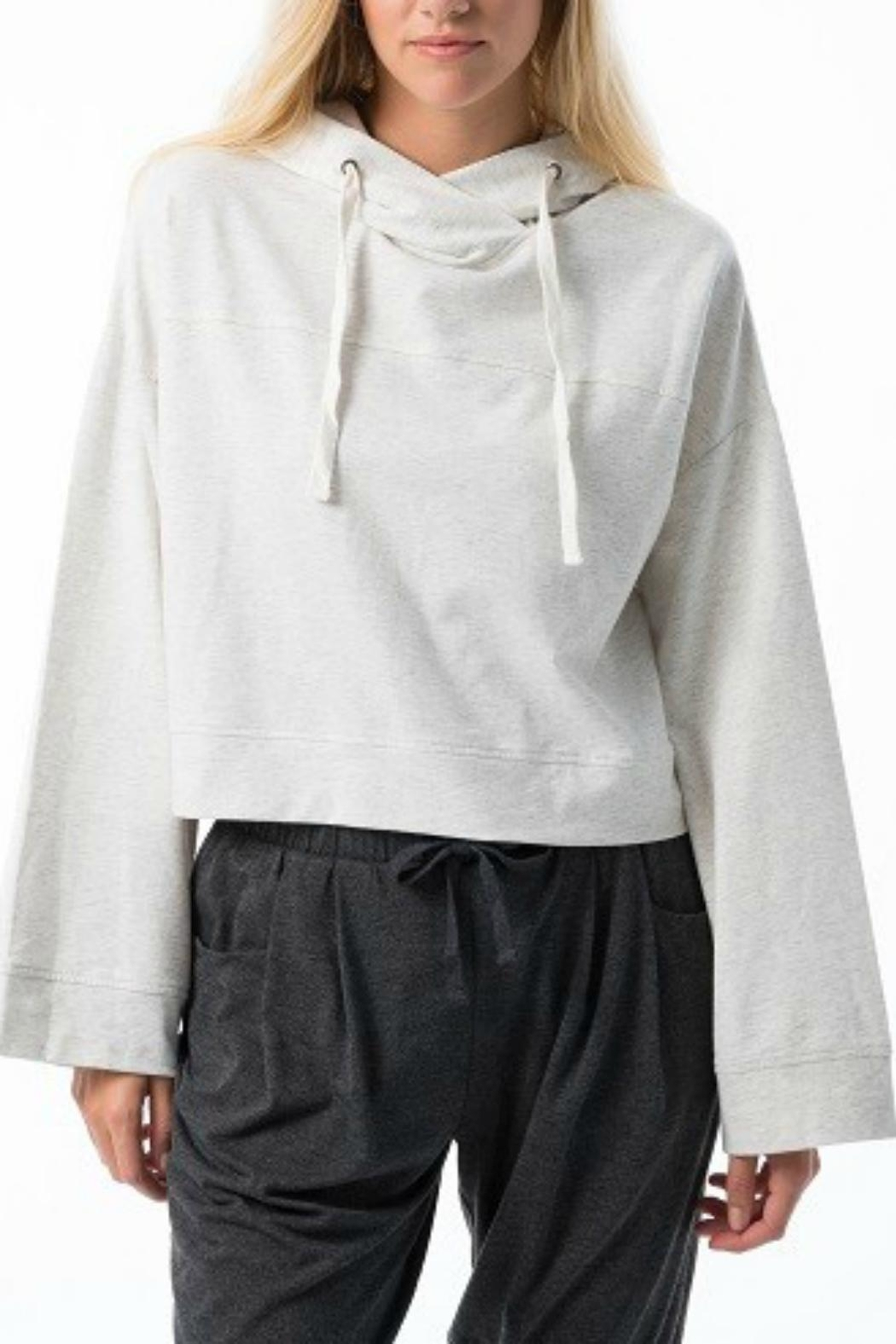 Pretty Little Things Bell Sleeve Sweatshirt - Front Cropped Image