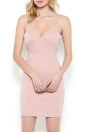 Pretty Little Things Blush Peekaboo Dress - Front cropped