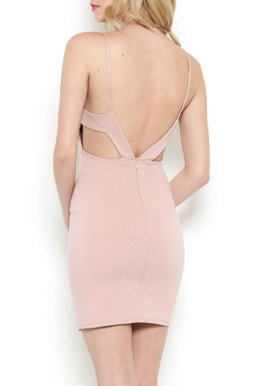 Pretty Little Things Blush Peekaboo Dress - Front Full Image