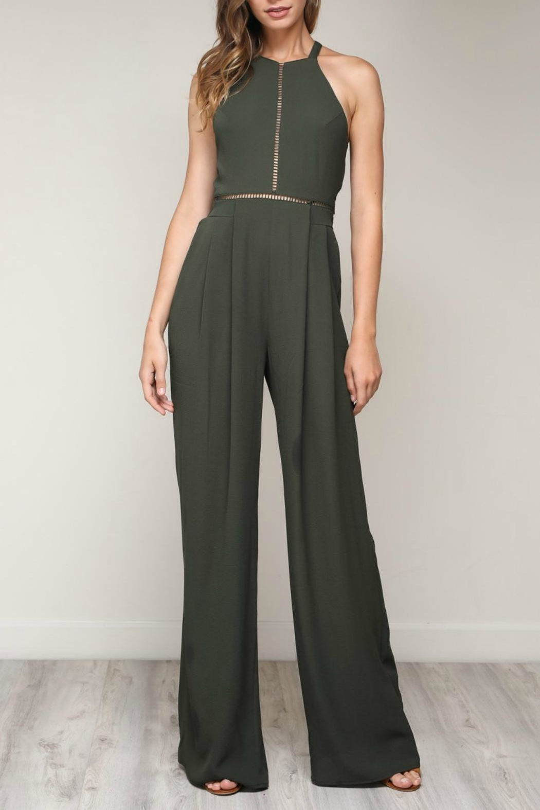 Pretty Little Things Bow Back Jumpsuit - Main Image