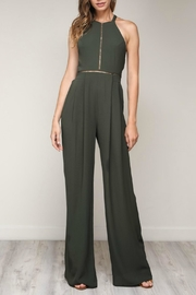 Pretty Little Things Bow Back Jumpsuit - Front cropped