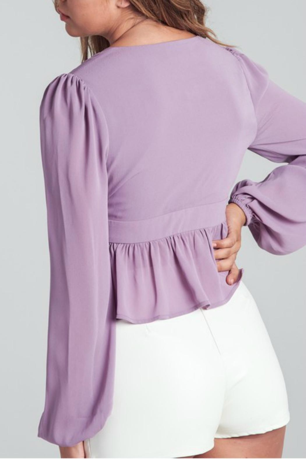 Pretty Little Things Bubble Sleeve Top - Front Full Image