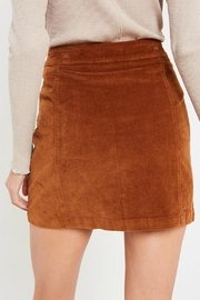Pretty Little Things Button Corduroy Skirt - Side cropped