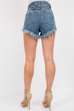 Pretty Little Things Button Denim Shorts - Alternate List Image