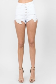 Pretty Little Things Button Denim Shorts - Front cropped