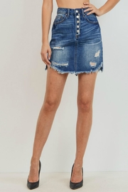 Pretty Little Things Buttoned Denim Skirt - Front cropped