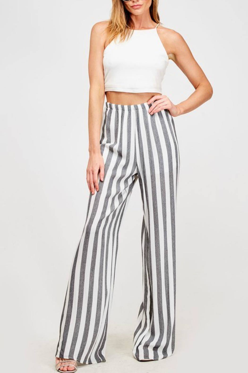 Pretty Little Things Cabana Palazzo Pants - Front Cropped Image
