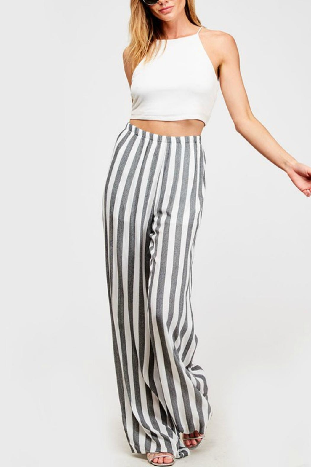 Pretty Little Things Cabana Palazzo Pants - Front Full Image