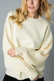 Pretty Little Things Cable Sleeve Sweater - Product Mini Image