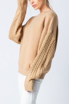 Pretty Little Things Cable Sleeve Sweater - Alternate List Image