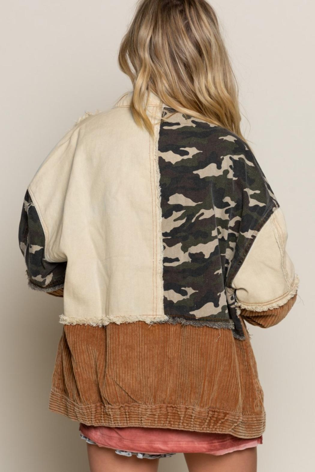 Pretty Little Things Camo Patchwork Jacket - Side Cropped Image