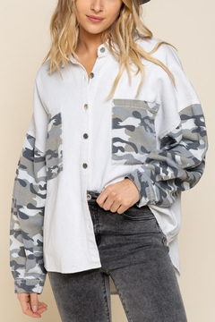 Pretty Little Things Camo Shirt Jacket - Product List Image