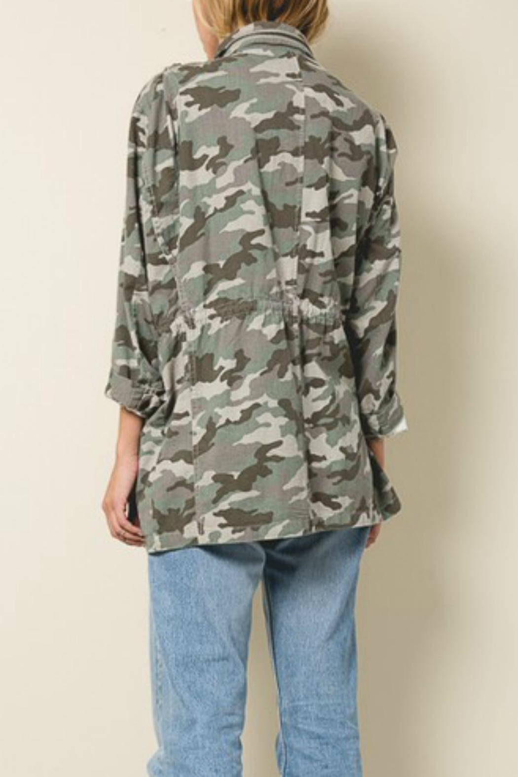 Pretty Little Things Camo Utility Jacket - Front Full Image