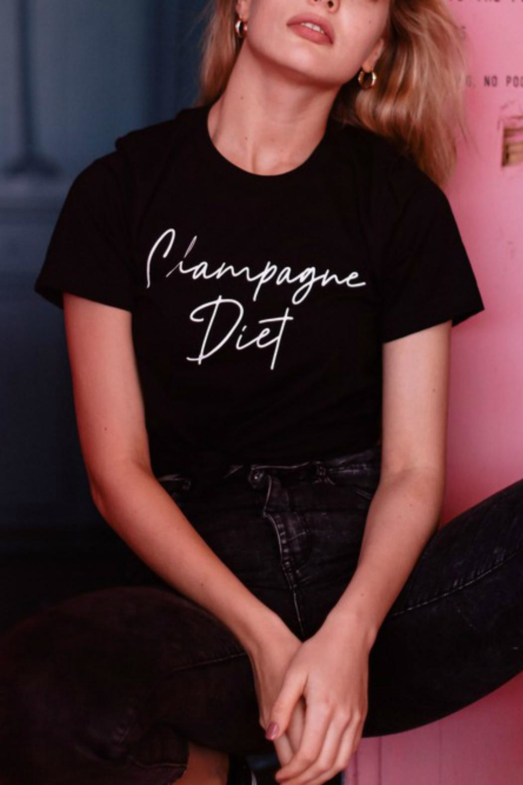 Pretty Little Things Champagne Diet Shirt - Main Image