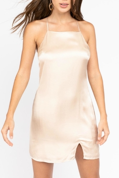 Pretty Little Things Champagne Slip Dress - Product List Image