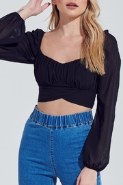 Pretty Little Things Chiffon Bubble-Sleeve Top - Front cropped