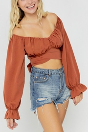 Pretty Little Things Chiffon Wrap Top - Product Mini Image