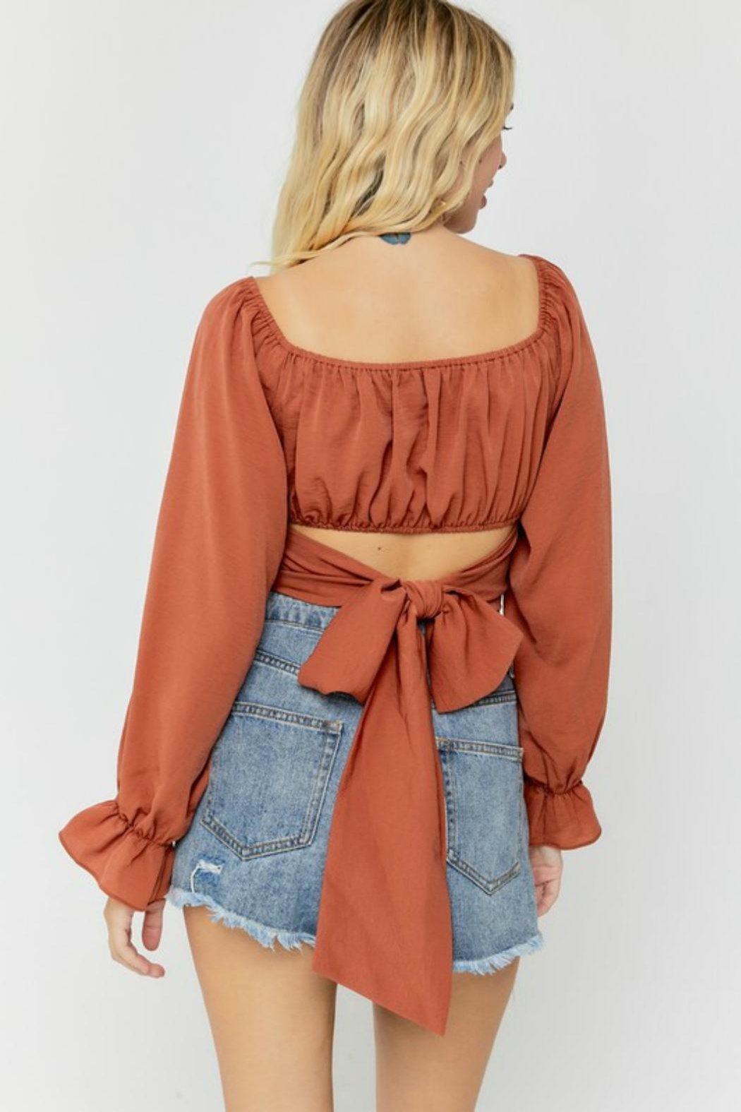 Pretty Little Things Chiffon Wrap Top - Front Full Image